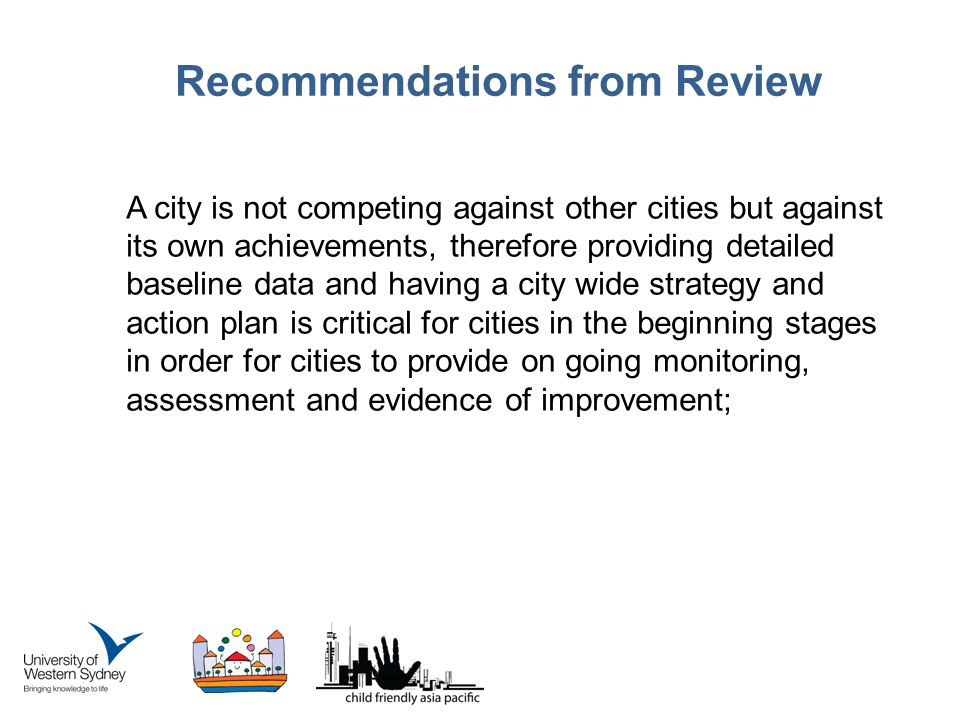 Recommendations from Review