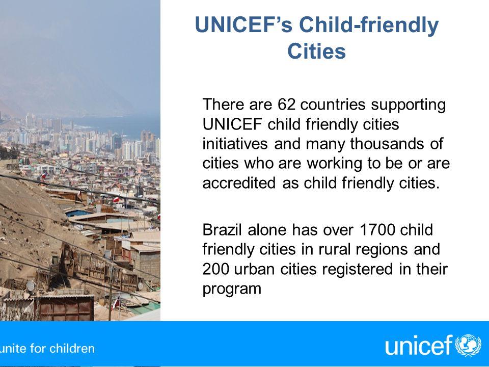 UNICEF's Child-friendly Cities