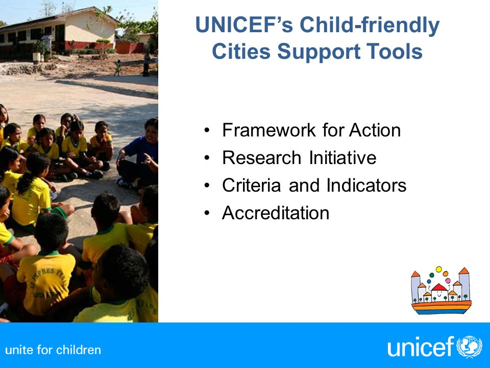 UNICEF's Child-friendly Cities Support Tools
