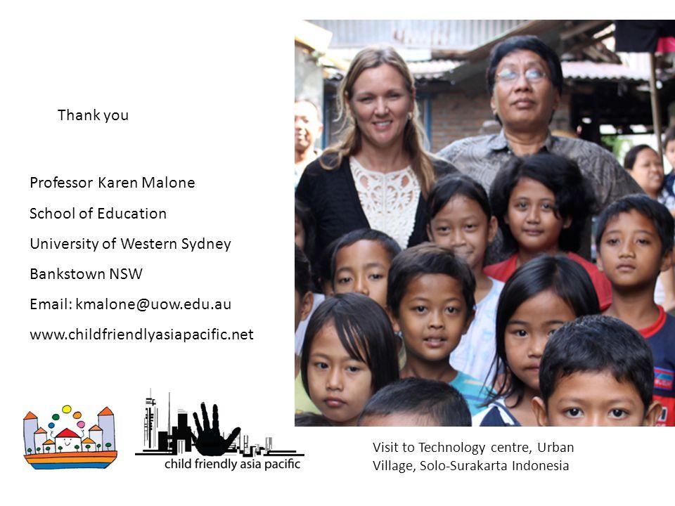 Professor Karen Malone School of Education