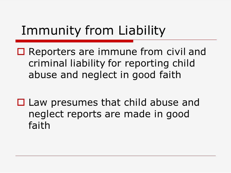 Immunity from Liability