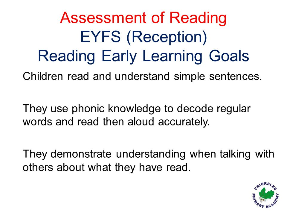 Reading Early Learning Goals