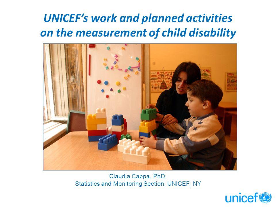 Statistics and Monitoring Section, UNICEF, NY