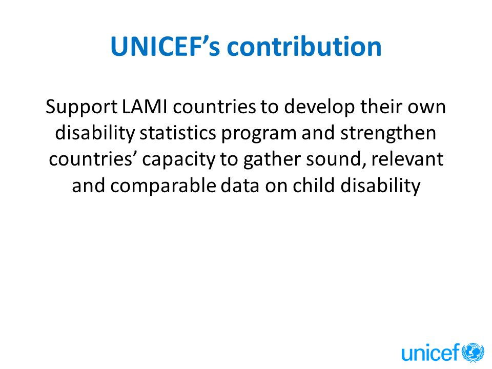 UNICEF's contribution