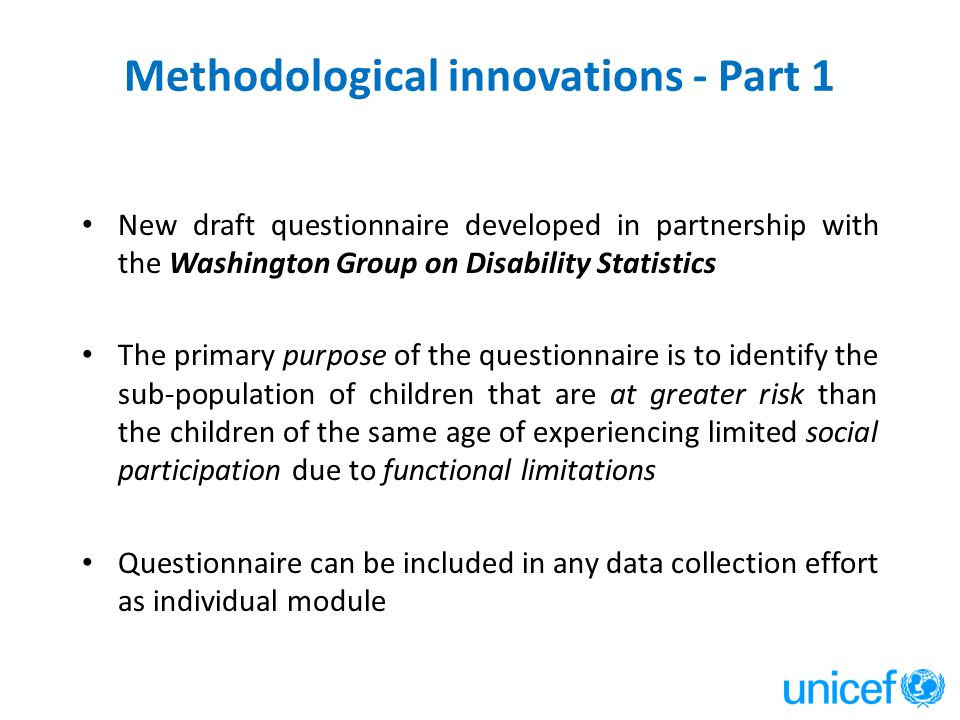 Methodological innovations - Part 1