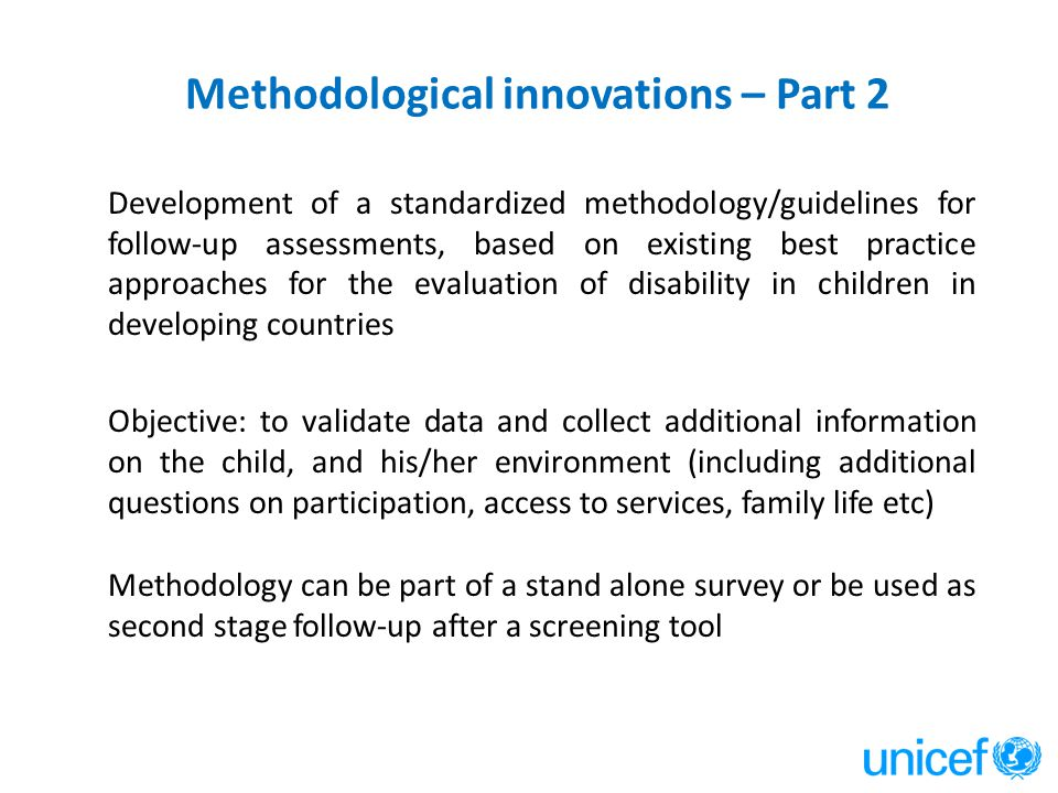 Methodological innovations – Part 2
