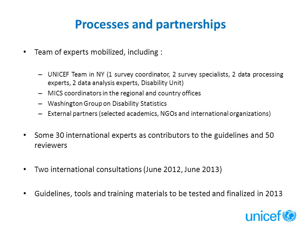 Processes and partnerships
