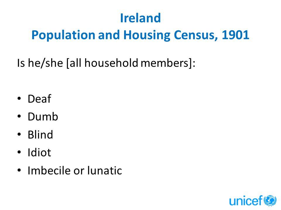 Ireland Population and Housing Census, 1901