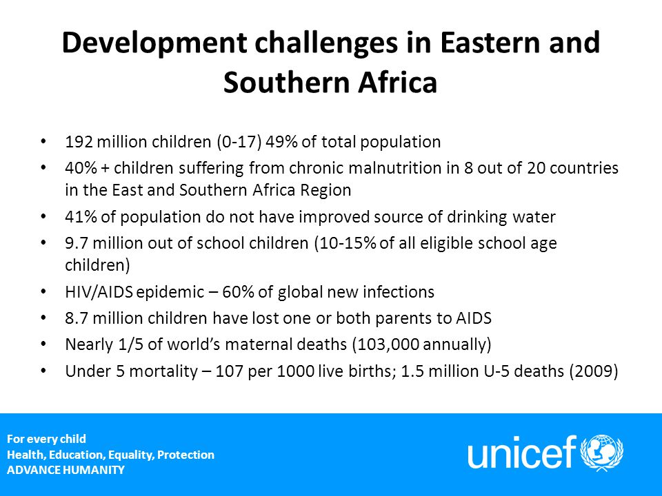 Development challenges in Eastern and Southern Africa
