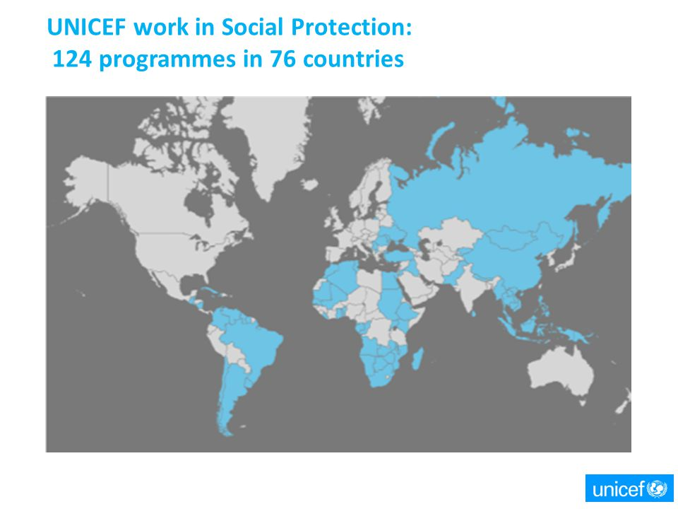 UNICEF work in Social Protection: 124 programmes in 76 countries