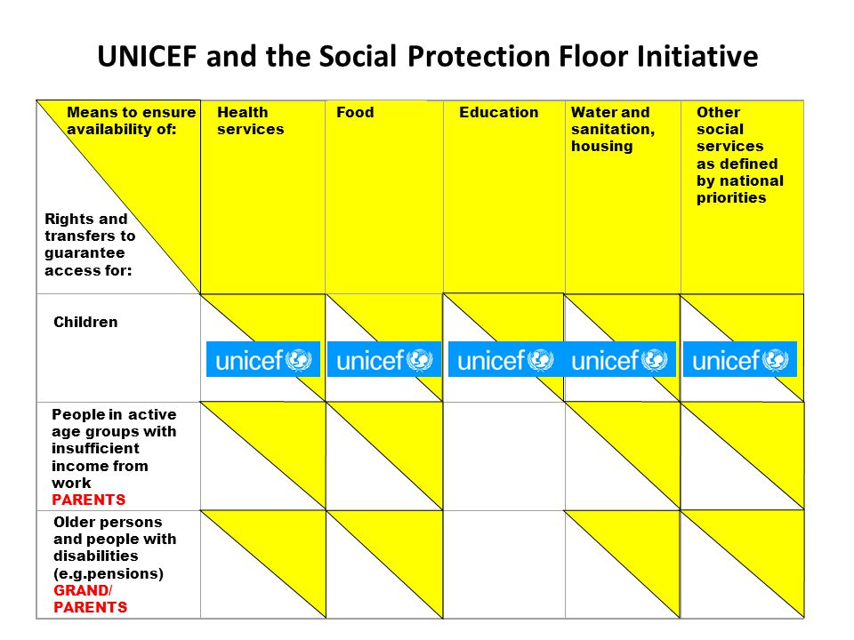 UNICEF and the Social Protection Floor Initiative