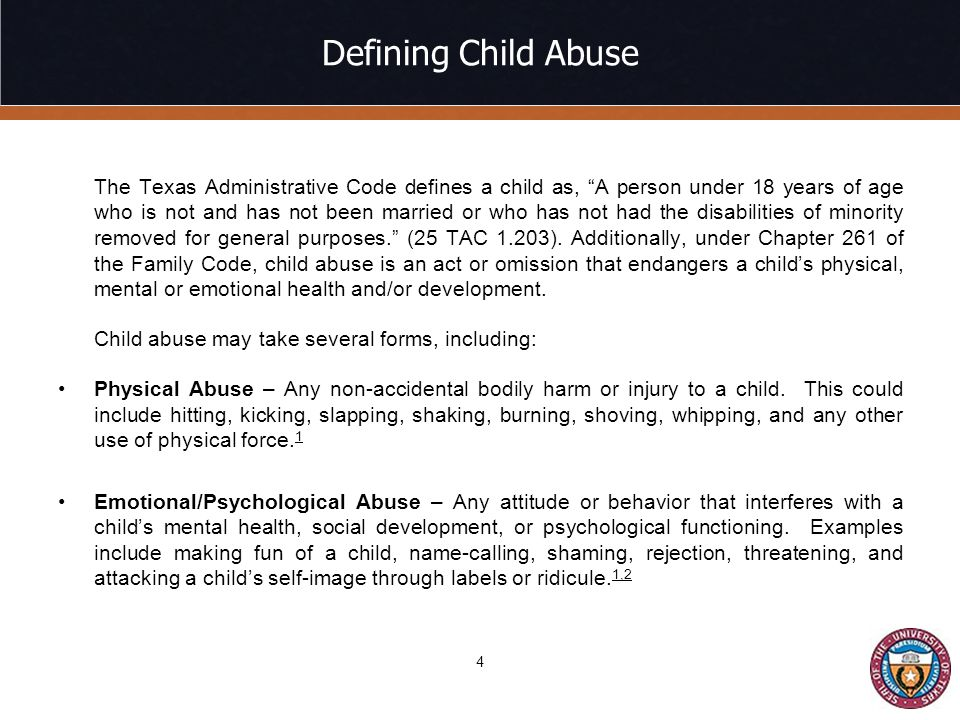Defining Child Abuse