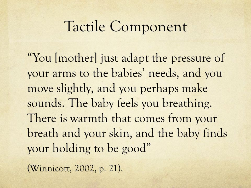 Tactile Component