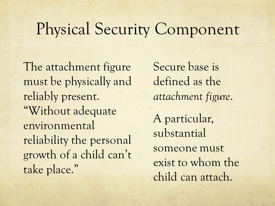 Physical Security Component