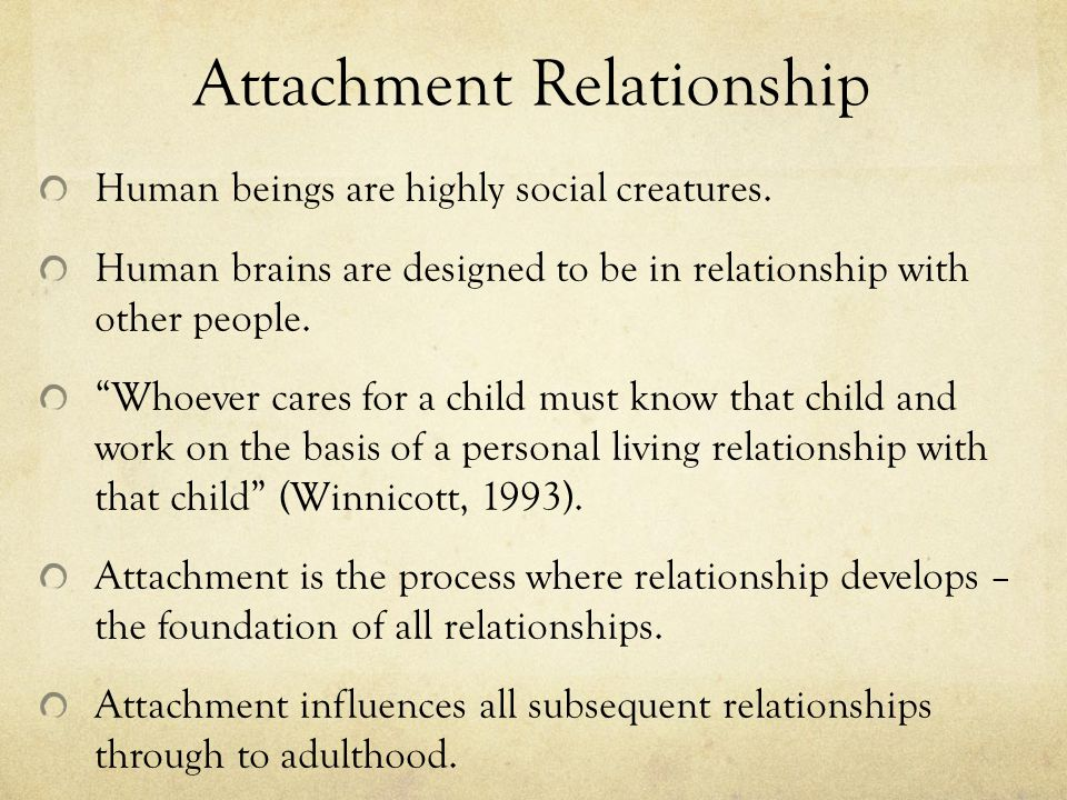 Attachment Relationship