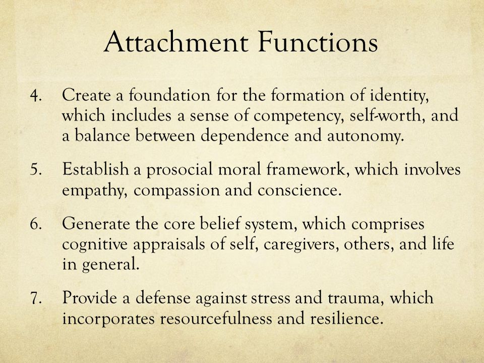 Attachment Functions