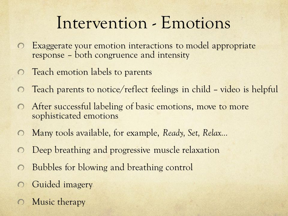 Intervention - Emotions