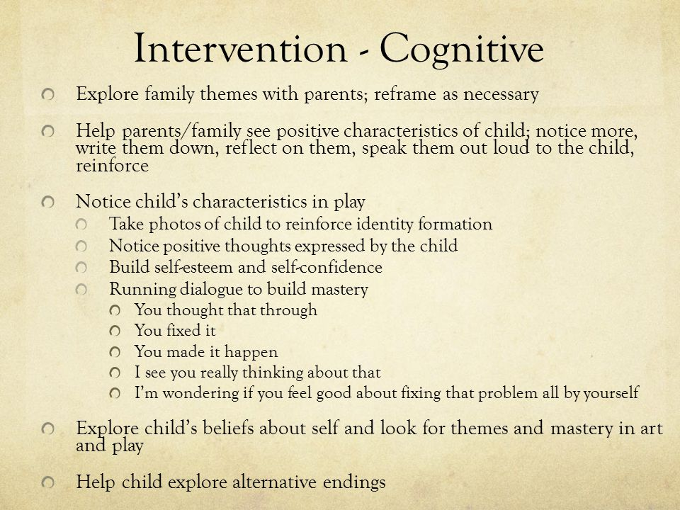 Intervention - Cognitive