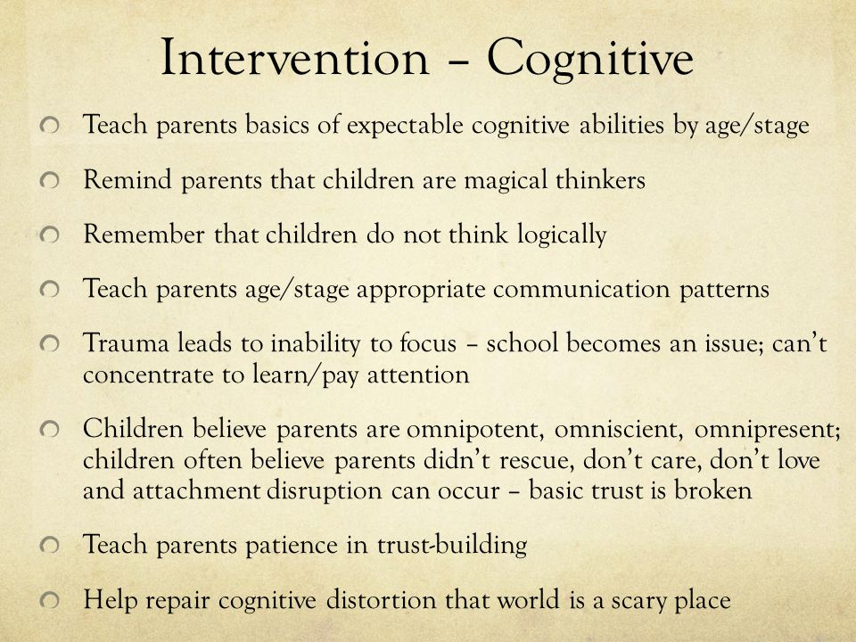 Intervention – Cognitive