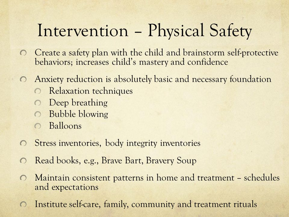 Intervention – Physical Safety