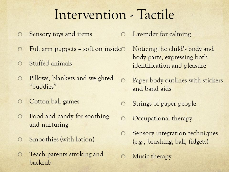 Intervention - Tactile
