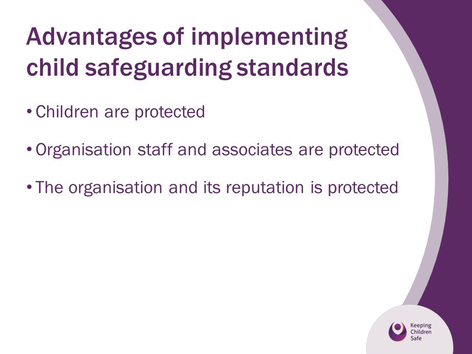 Advantages of implementing child safeguarding standards
