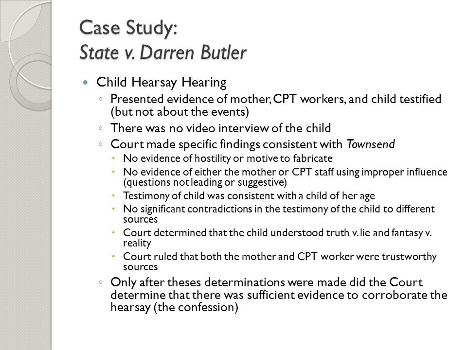 Case Study: State v. Darren Butler