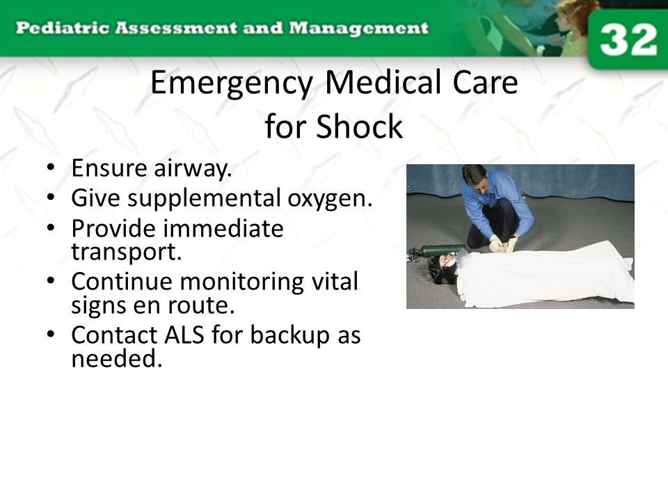 Emergency Medical Care for Shock