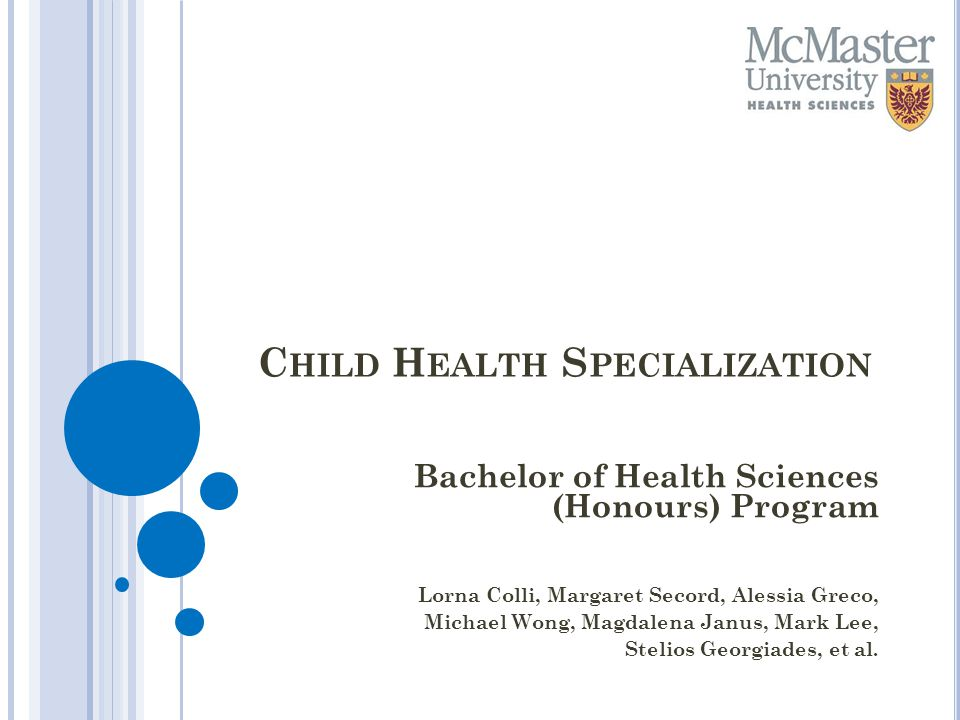 Child Health Specialization