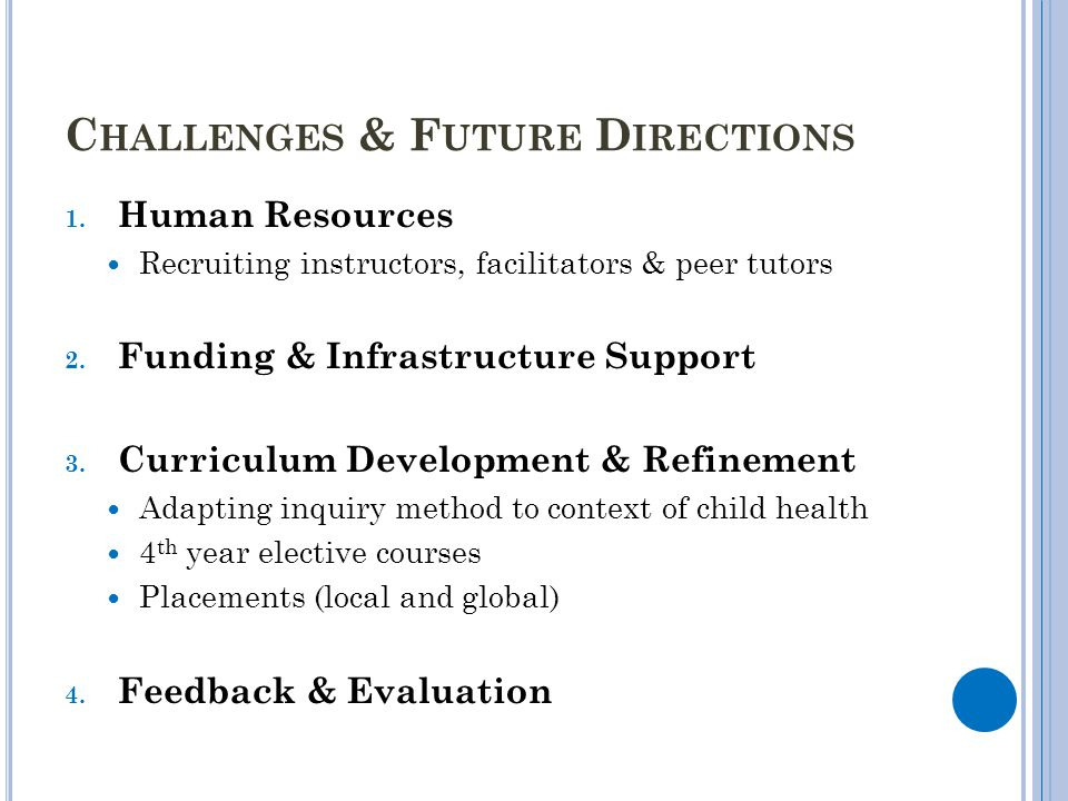 Challenges & Future Directions