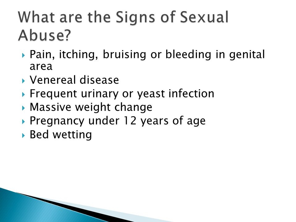 What are the Signs of Sexual Abuse