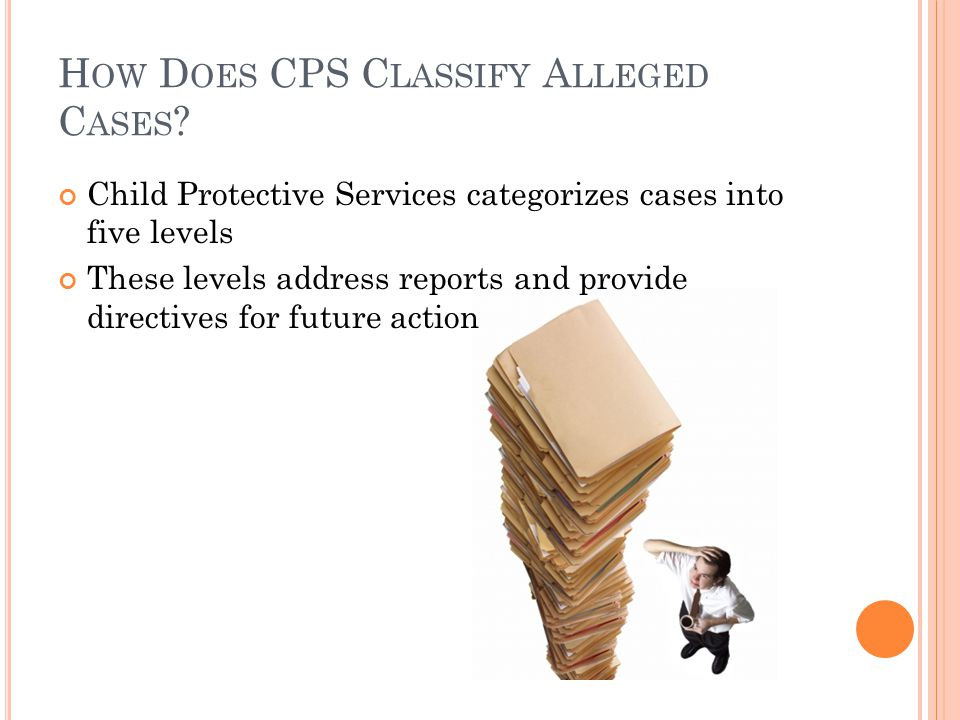How Does CPS Classify Alleged Cases