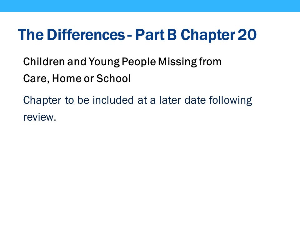 The Differences - Part B Chapter 20