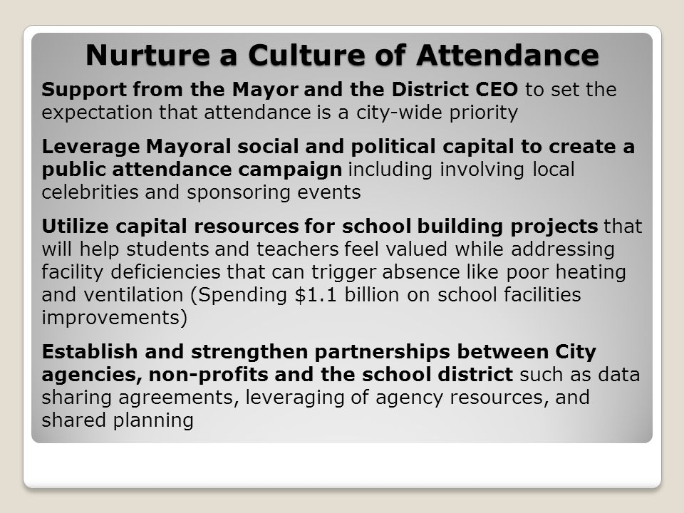 Nurture a Culture of Attendance