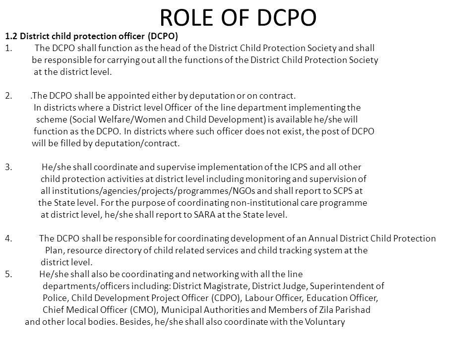 ROLE OF DCPO