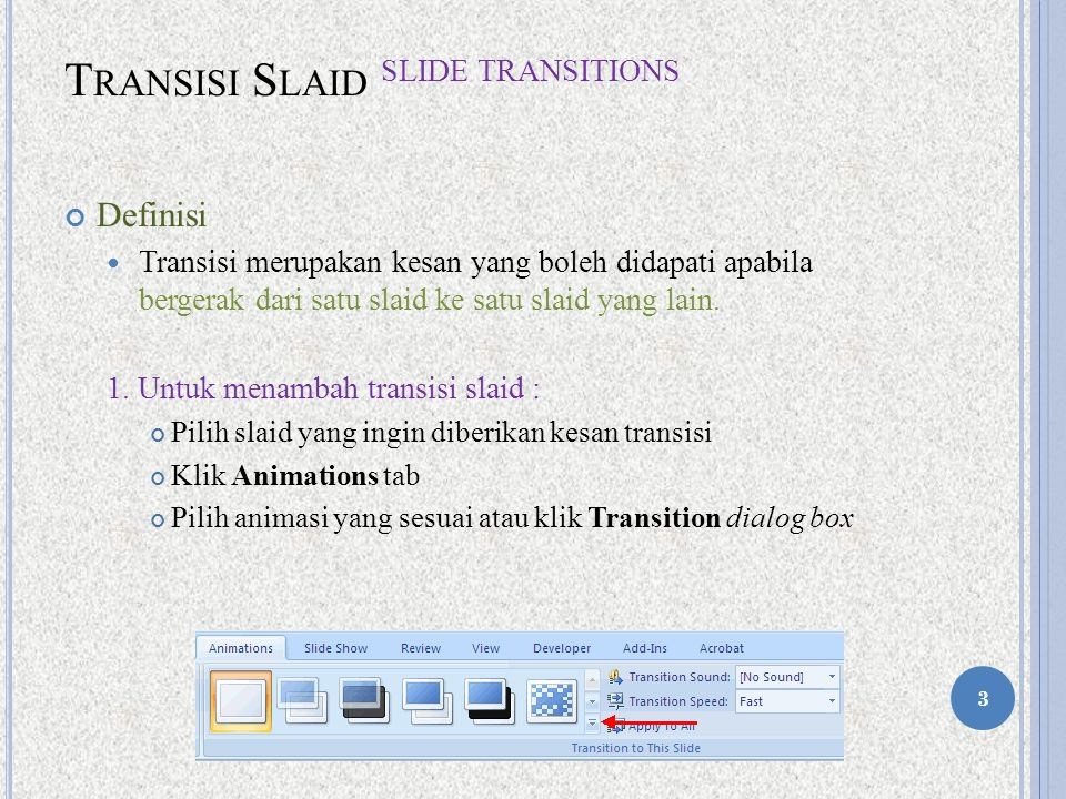 Transisi Slaid Slide Transitions