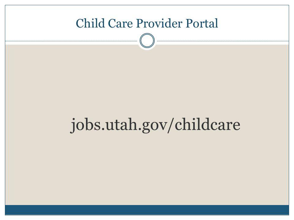 Child Care Provider Portal