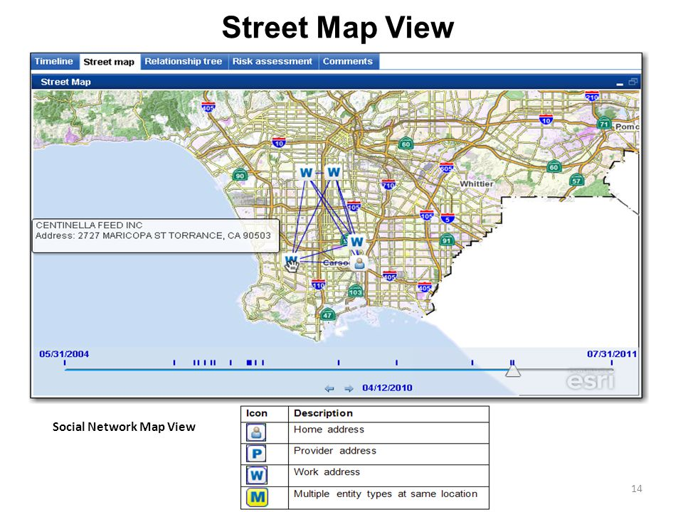 Street Map View Social Network Map View Street Map View
