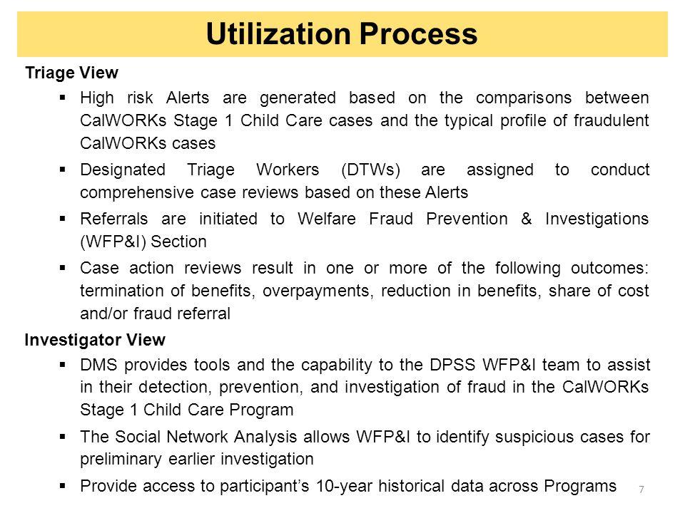 Utilization Process Triage View