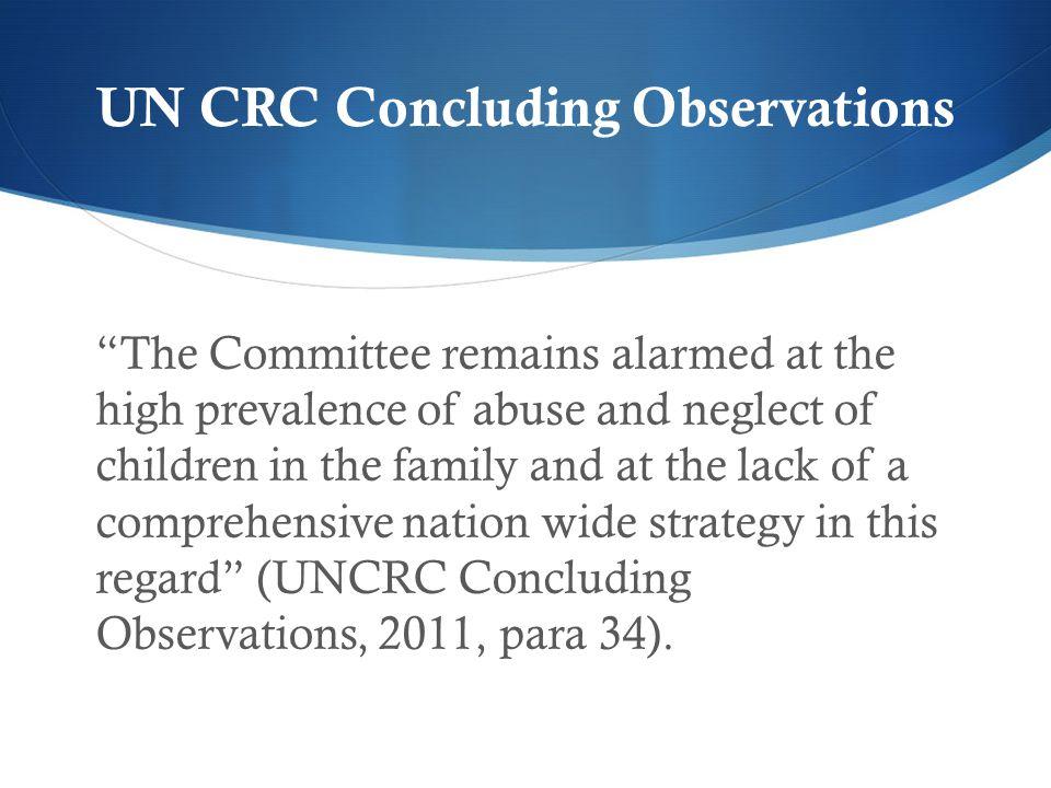 UN CRC Concluding Observations