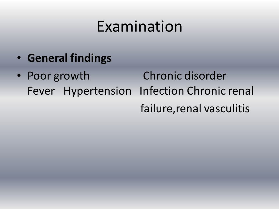Examination General findings