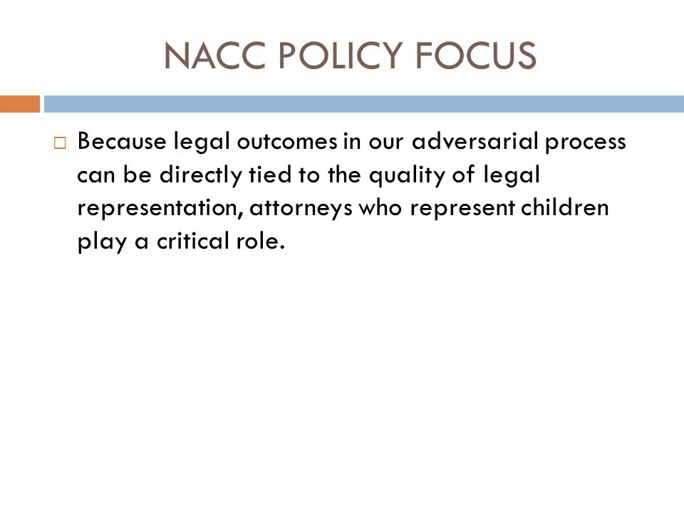 NACC POLICY FOCUS