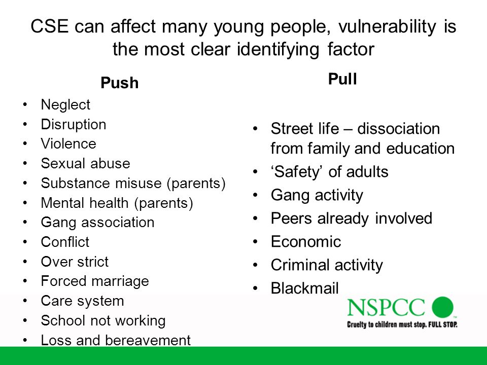 CSE can affect many young people, vulnerability is the most clear identifying factor