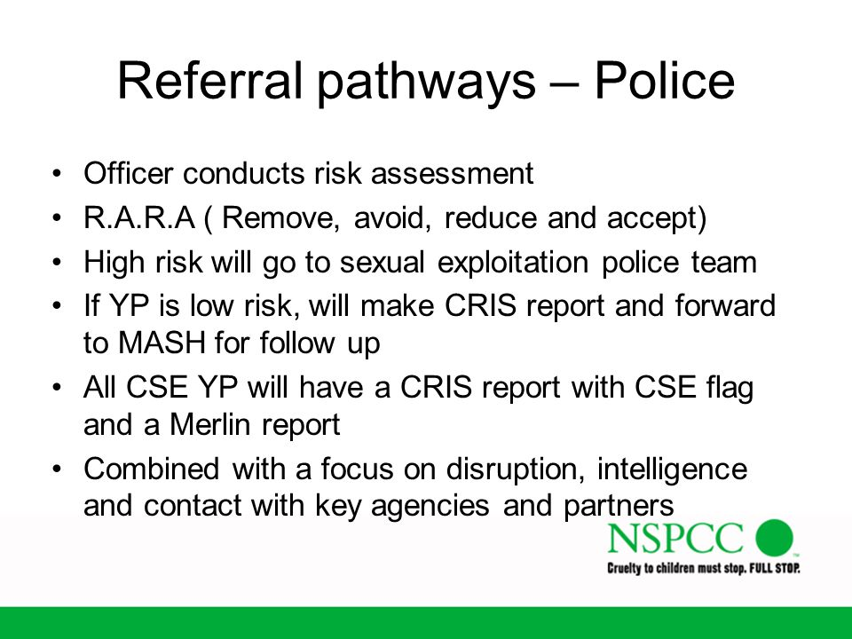 Referral pathways – Police