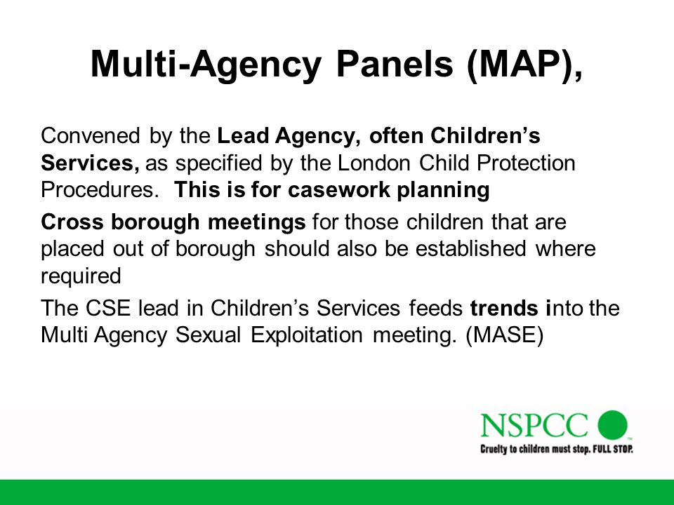 Multi-Agency Panels (MAP),