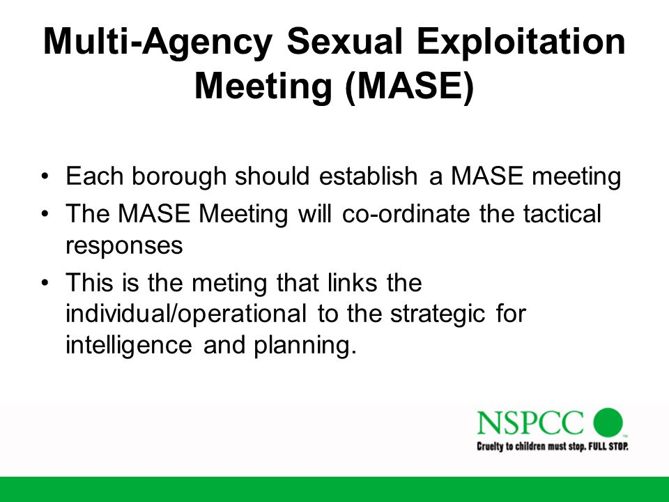 Multi-Agency Sexual Exploitation Meeting (MASE)