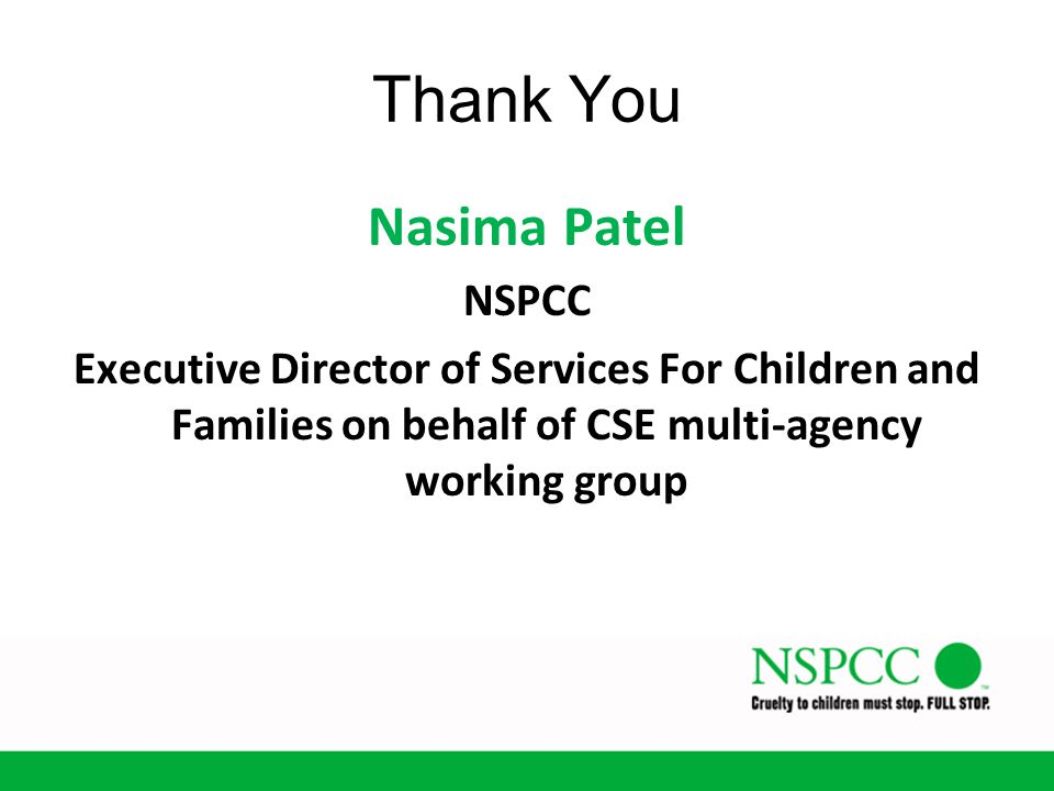 Thank You Nasima Patel NSPCC