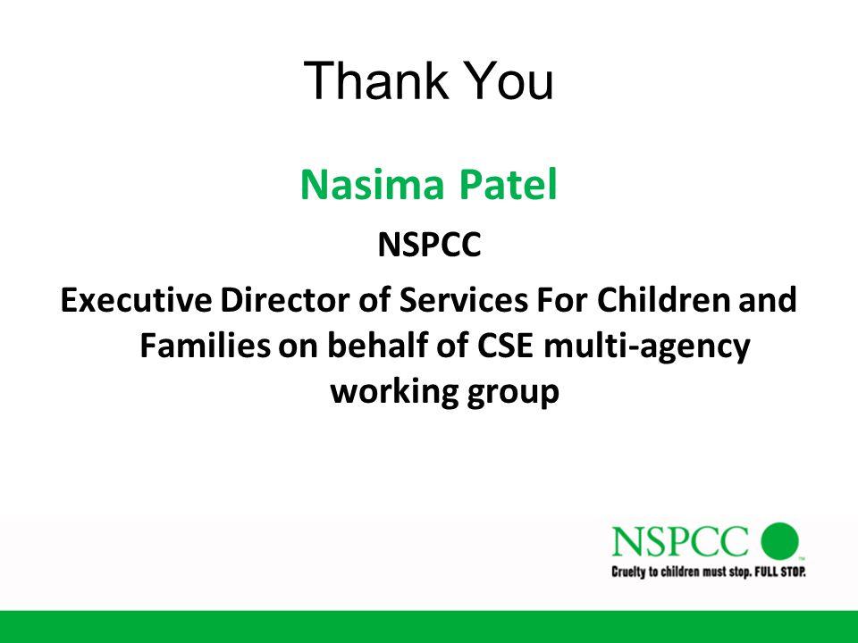 Thank You Nasima Patel NSPCC