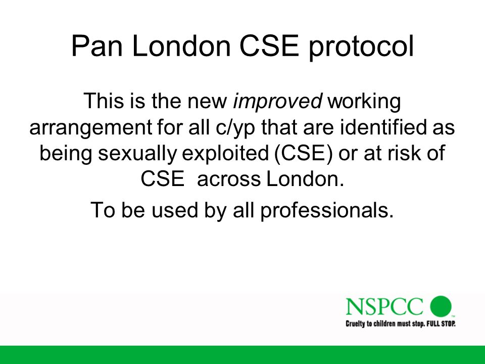 Pan London CSE protocol