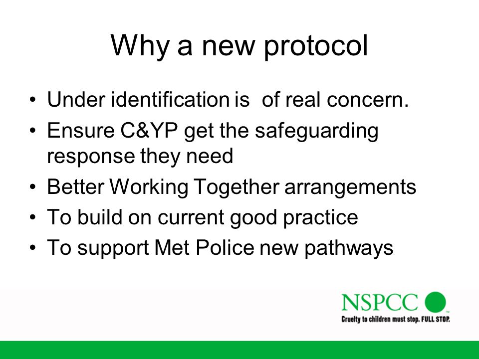 Why a new protocol Under identification is of real concern.